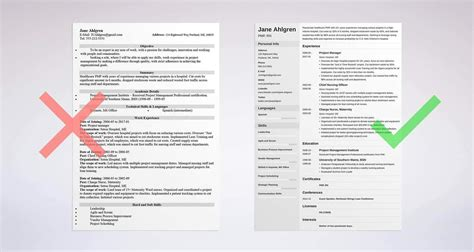 simple sample resume template idea