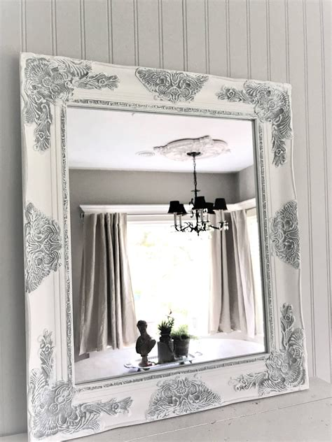 white shabby chic wall mirror home design and decor
