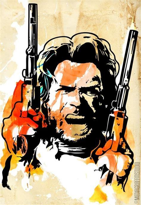 clint eastwood western outlaw cowboy stencil graffiti