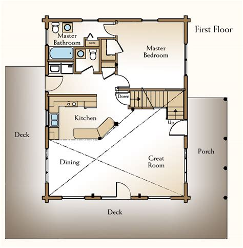 small log cabin floor plans with loft a small log home floor plan the augusta 171 real log style