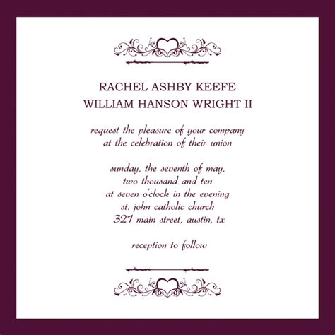 wedding invitation layout templates silver wedding invitations
