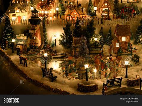 christmas village miniature houses image photo bigstock