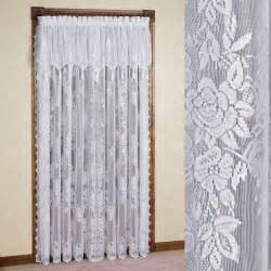 Lace Curtains With Attached Valance Easy Style Lace Curtain Panel With Attached Valance