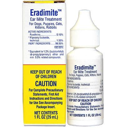 eradimite ear mite treatment controls ear mites in pets