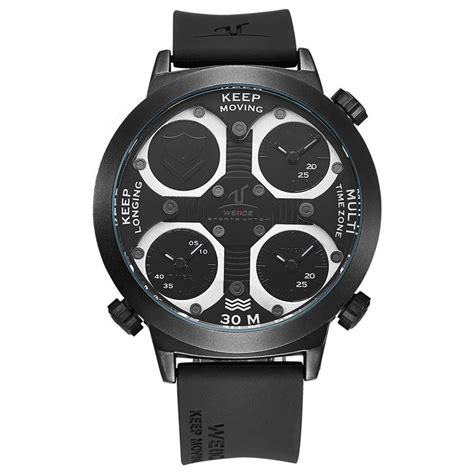 Weide Universe Series Three Time Zone 30m Wr Uv1506 T0210 new weide uv1503 oversized 3 time zones wr 30m black cursonline 174