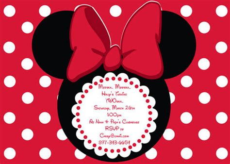 minnie mouse template invitations minnie mouse invitations template best template