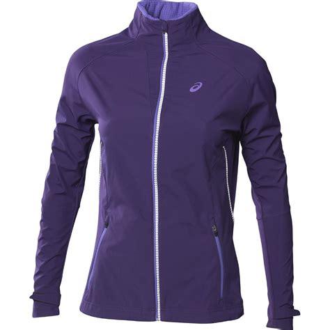 asics womens speed jacket parachute purple