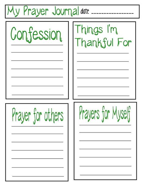 prayer journal template teaching children about prayer with free prayer journal