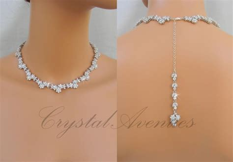 Hochzeit Collier by Bridal Necklace Backdrop Wedding Necklace Bridal