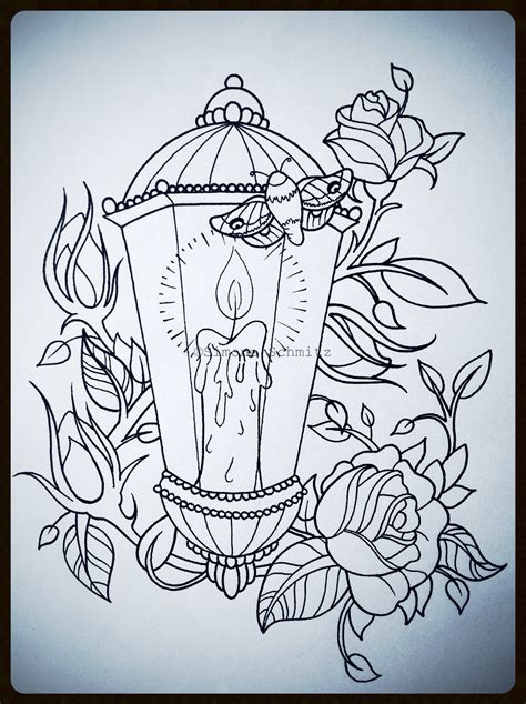 tattoo illustration pinterest lantern tattoodesign drawings pinterest