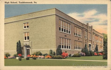 Tunkhannock Post Office by High School Tunkhannock Pa