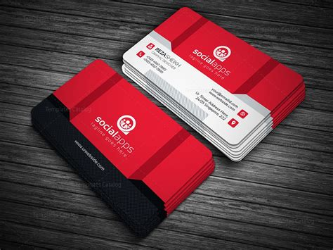 3d Card Templates by 3d Effect Business Card Template 000143 Template Catalog
