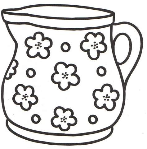 imagenes para colorear jarra jarra floreada dibujalia dibujos para colorear