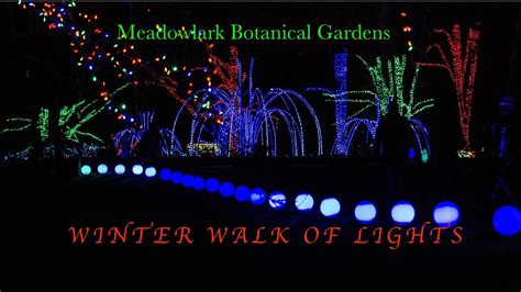 meadowlark botanical gardens meadowlark s winter walk of lights meadowlark winter walk of lights 2016