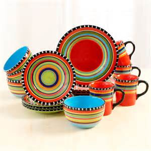 colorful dish sets pueblo 16 dinnerware set and 37
