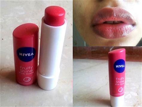 Lip Balm Pink Shineskin nivea lip care fruity shine pink guava lip balm review swatches