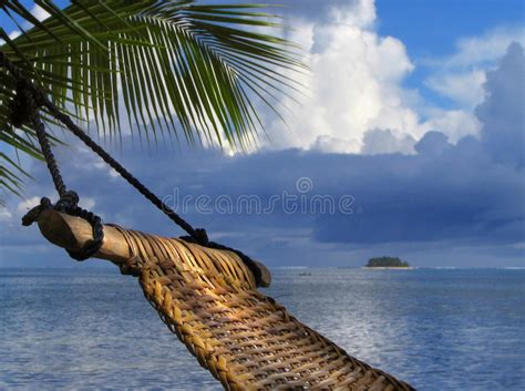 fotos de hamacas en la playa hamaca en la playa tropical imagen de archivo imagen de