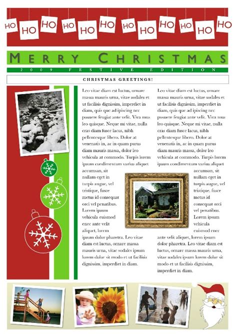 christmas newsletter template search results calendar 2015