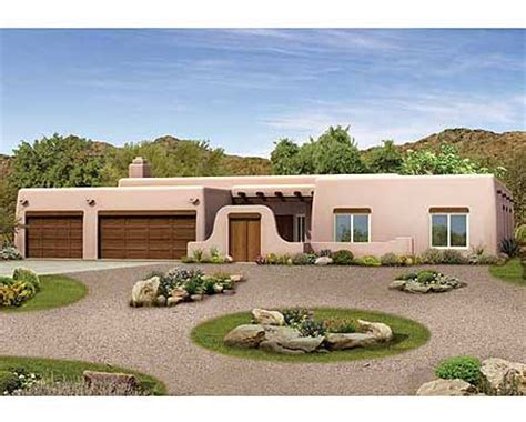 Pueblo Style House Plans pueblo style ranch home plan 81387w 1st floor master