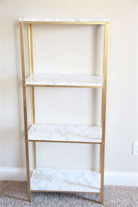 Ikea Hyllis the easiest diy hack to glam your 14 99 ikea hyllis shelf