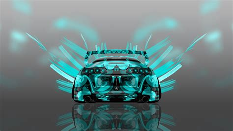 toyota supra jdm  super abstract aerography car