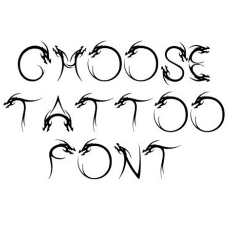tattoo dragon font best tattoo fonts generate lettering for tattoo