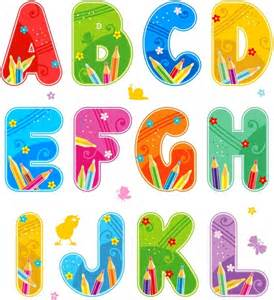 colorful letters vector colorful font design alphabet free vector in