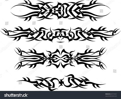 tribal tattoo arm band tribal arm band stock vector 65714161