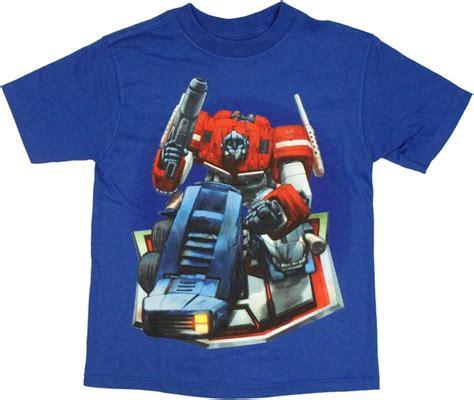 Transformers Logo 1 T Shirt transformers optimus on logo juvenile t shirt