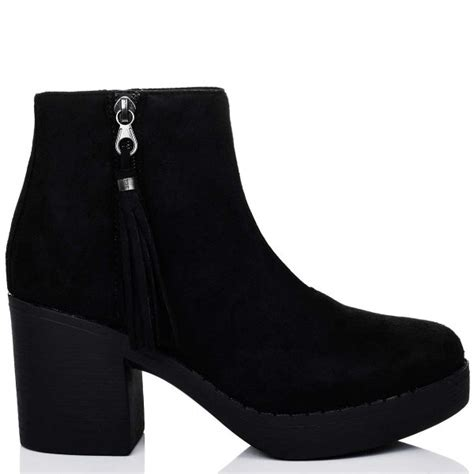 eclipse black ankle boots shoes from spylovebuy