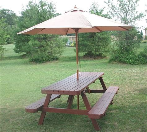 picnic table with umbrella 17 best ideas about picnic table with umbrella on