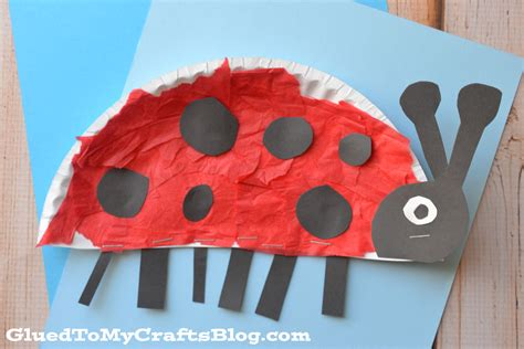 Ladybug Paper Plate Craft - arts and crafts for ideas paper plate bug paper