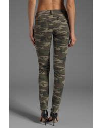 design lab grunge camo pants lyst sold design lab soho super skinny in camo in green