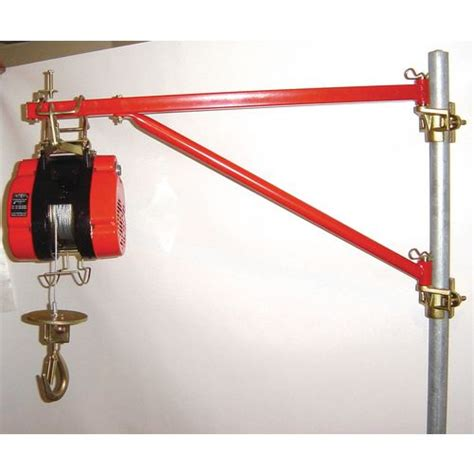 swing jib jib swing for use with hoists on scaffolding suction