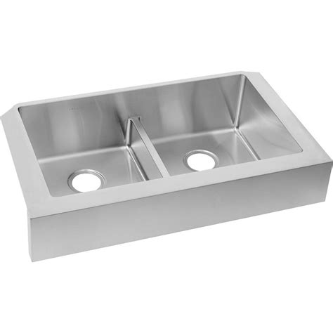 elkay avado undermount stainless steel 32 in double bowl elkay crosstown undermount apron front stainless steel 32
