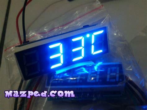 racun baru 3 in 1 jam digital voltmeter dan pengukur suhu mazpedia