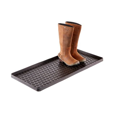 black large shoe boot tray the container store