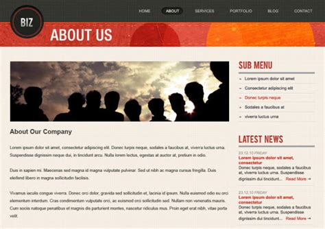 about us template freebie biz business website psd templates web