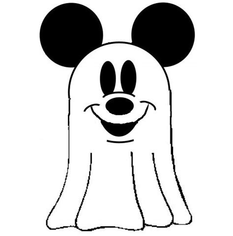 ghost face coloring page halloween ghost pictures for kids disney mickey mouse