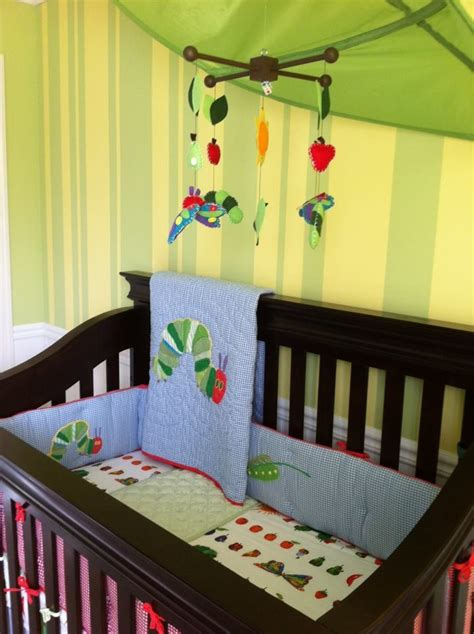 Eric Carle Crib Bedding Hungry Caterpillar Nursery Pottery Barn Bedding Mobile From Etsy Ikea Leaf Baby