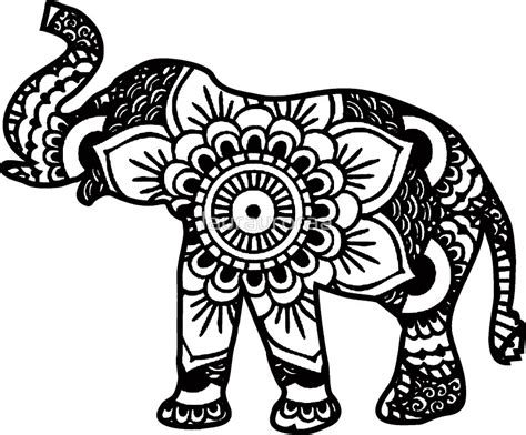 quot mandala elephant black quot stickers by laurauroraa redbubble