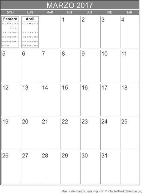 Calendario Marzo 2017 Marzo 2017 Calendario Para Imprimir Calendarios Para