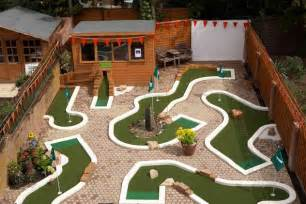 backyard mini golf layout by diy backyard