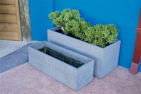 concrete trough planters creation landscape supplies