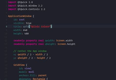 themes qt creator qcivic a qt creator syntax theme inspired by xcode 8 civic