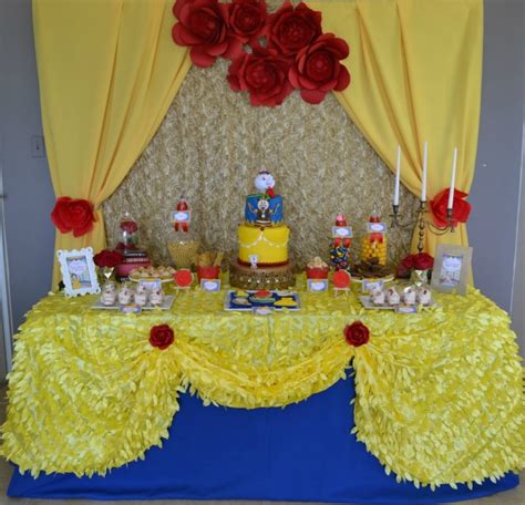 beauty and the beast table decorations enchanted beauty and the beast birthday party pretty my