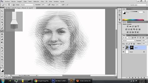 how to make doodle in photoshop photoshop drawing effect efecto dibujo