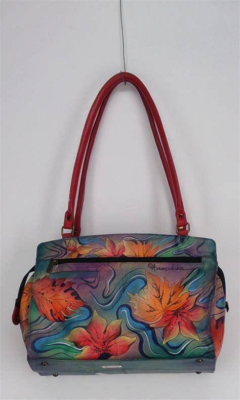 painted leather handbags anuschka sz medium organization painted leather tote handbag