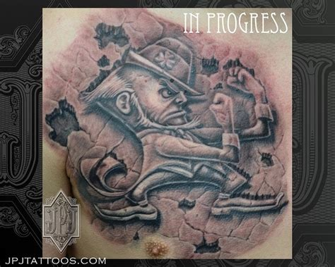 notre dame tattoo designs 20 best fighting tattoos images on