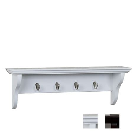 24 quot w entryway shelf with 4 hooks coat hook and hat shelf